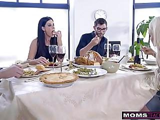 Mom Fucks Son & Eats..