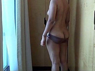 Indian milf fondled standing