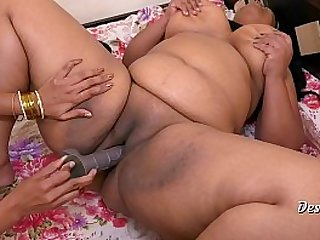 Desi Hot Tribadic Hardcore Intercourse Helter-skelter Huge Dildo