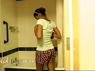 Succulent Divya In Shower..