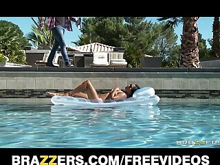 Sexy sun bathing Asian wife..
