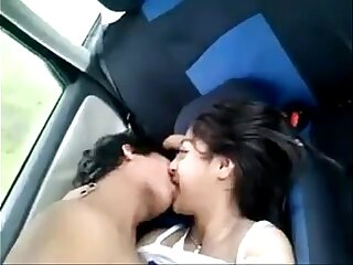X desi Indian teen unconcealed give car